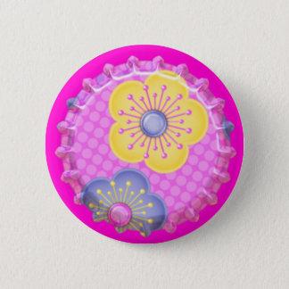 Flower Bottle Cap Backpack Hat Button Pin