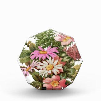 flower bouquet acrylic award