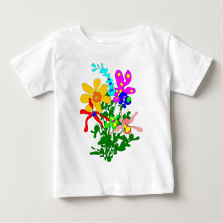 Flower bouquet, bright colors, orchids baby T-Shirt