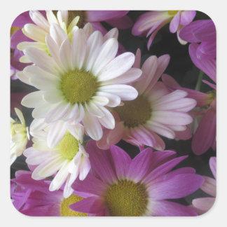 FLOWER Bouquet Butterfly Garden: Elegant Gifts Square Stickers