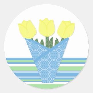 Flower Bouquet Collection Classic Round Sticker