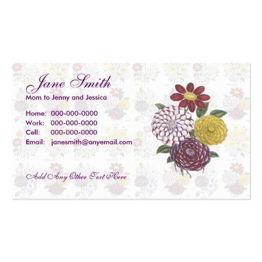 Flower Bouquet Contact Card Business Cards