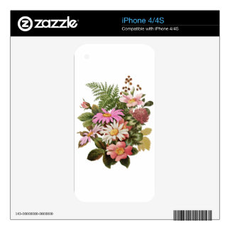 flower bouquet decal for iPhone 4