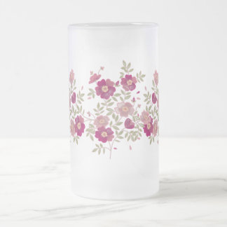 Flower Bouquet Frosted Mug