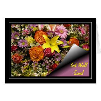 Flower Bouquet Get Well Card