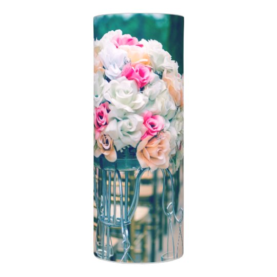 Flower Bouquet Love And Wedding Aisle Verse Flameless Candle
