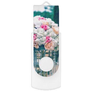 Flower Bouquet Love and Wedding Aisle Bible Verse Flash Drive