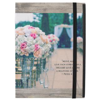"Flower Bouquet Love and Wedding Aisle Bible Verse iPad Pro 12.9"" Case"