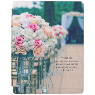 Flower Bouquet Love and Wedding Aisle Bible Verse iPad Smart Cover