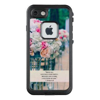 Flower Bouquet Love and Wedding Aisle Bible Verse LifeProof FRĒ iPhone 7 Case