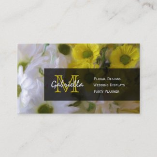 Flower Bouquet : Monogram Business Cards