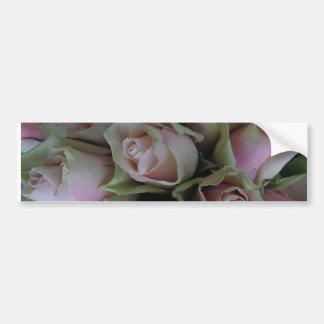 Flower Bouquet of Pink Green Roses Bumper Sticker