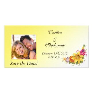 Flower Bouquet Wedding Photo Announcement