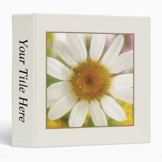 Flower Bouquet - White Daisy 3 Ring Binder