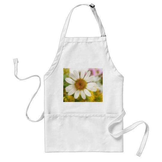 Flower Bouquet - White Daisy Adult Apron