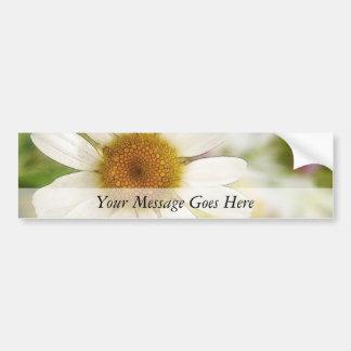 Flower Bouquet - White Daisy Bumper Sticker