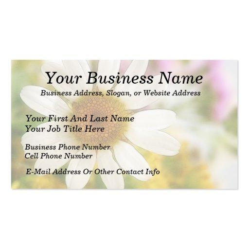 Flower Bouquet - White Daisy Business Card Template