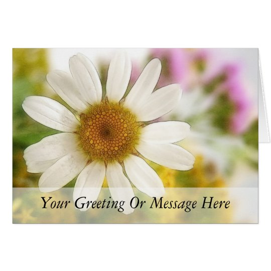 Flower Bouquet - White Daisy Card