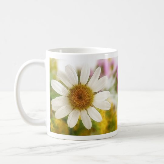 Flower Bouquet - White Daisy Coffee Mug