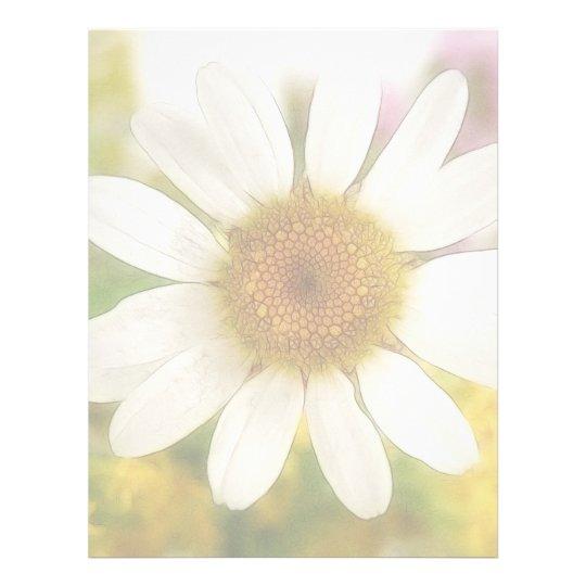 Flower Bouquet - White Daisy Letterhead