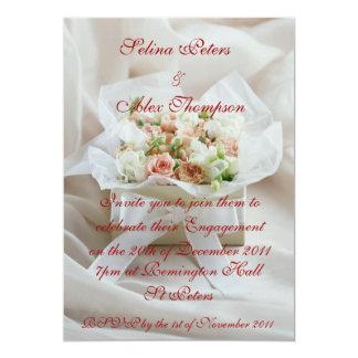 Flower Box Engagement Invitation