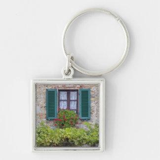 Flower box on window keychain