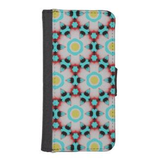 Flower & Bracelet Pattern Phone Wallet Case