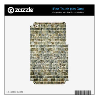 Flower Brick Wall Decal For iPod Touch 4G