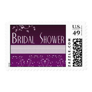 flower bridal shower postage stamps