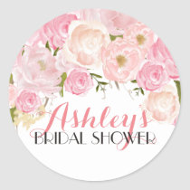 Flower Bridal Shower Sticker