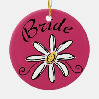Flower Bride Ceramic Ornament