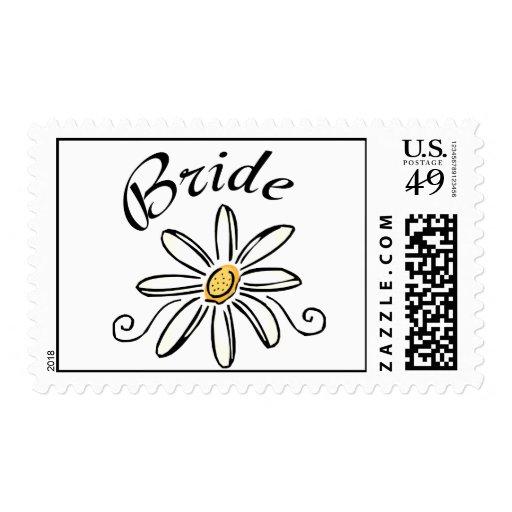 Flower Bride Postage Stamp