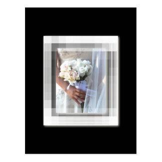 flower bride postcard