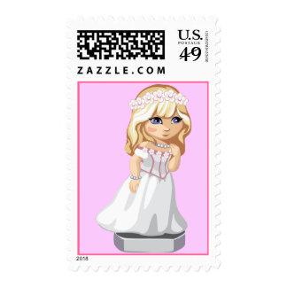 Flower Bride Stamp