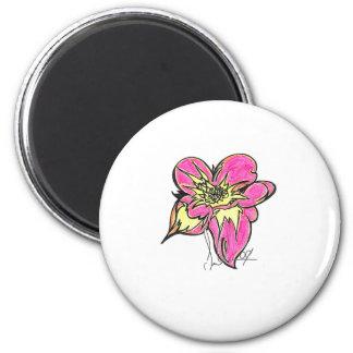 Flower Bright 2 Inch Round Magnet
