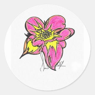 Flower Bright Classic Round Sticker