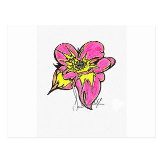 Flower Bright Postcard