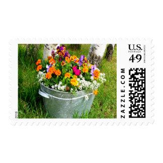 Flower Bucket Medium Stamp