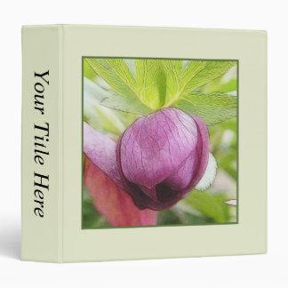 Flower Bud - Helleborus x hybridus 3 Ring Binder
