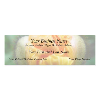 Flower Bud - Iceland Poppy Double-Sided Mini Business Cards (Pack Of 20)