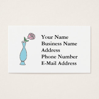 Flower Bud Vase Drawing Business Card