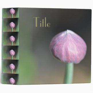 Flower bud with text vinyl binders