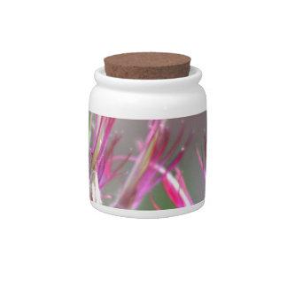 Flower buds candy jar