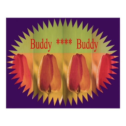 Flower Buds Large Decorations Poster