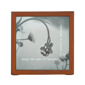 Flower Buds Patience Quotation Pencil Holder