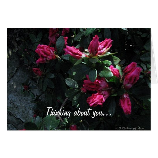 Flower Buds...Thinking About You Card