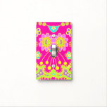 Flower Bug Girly Pink Switch Plate Cover