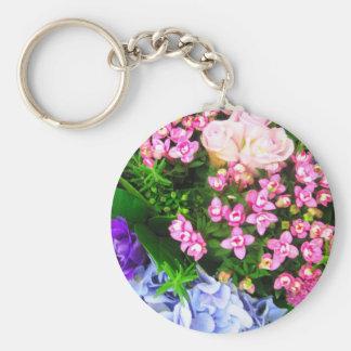 Flower bunch keychain