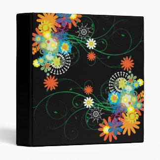 flower bunches of swirls vector binder
