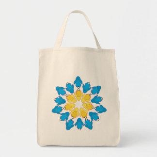 Flower Bunnies Tote Bag
